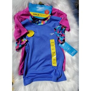 SPEEDO Girl's Short Sleeve Swim Tee